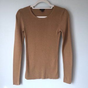 Ann Taylor | Scoop Neck Tan Pullover Sweater